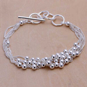 Jewelry - 925 Sterling Silver Ball Bracelet Chain Size 8 In